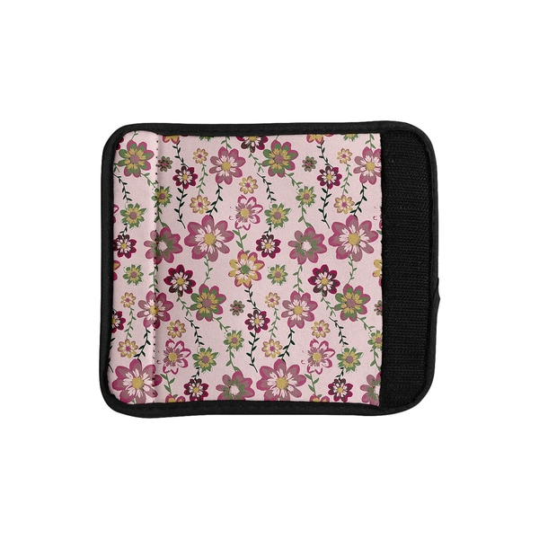 KESS InHouse Nika Martinez 'Romantic Flowers in Pink' Blush Floral Luggage Handle Wrap