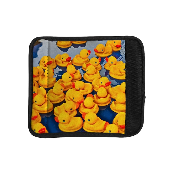 KESS InHouse Maynard Logan 'Duckies' Luggage Handle Wrap