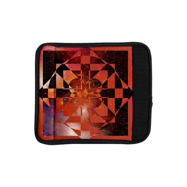 KESS InHouse Matt Eklund 'Galactic Hope Bittersweet' Red Orange Luggage Handle Wrap