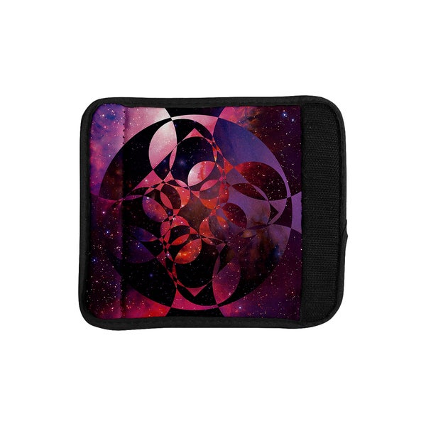 KESS InHouse Matt Eklund 'Galactic Brilliance Magenta' Pink Purple Luggage Handle Wrap