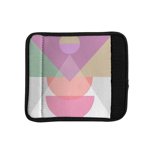 KESS InHouse Mareike Boehmer 'Pastel Play 3X' Purple Pink Luggage Handle Wrap