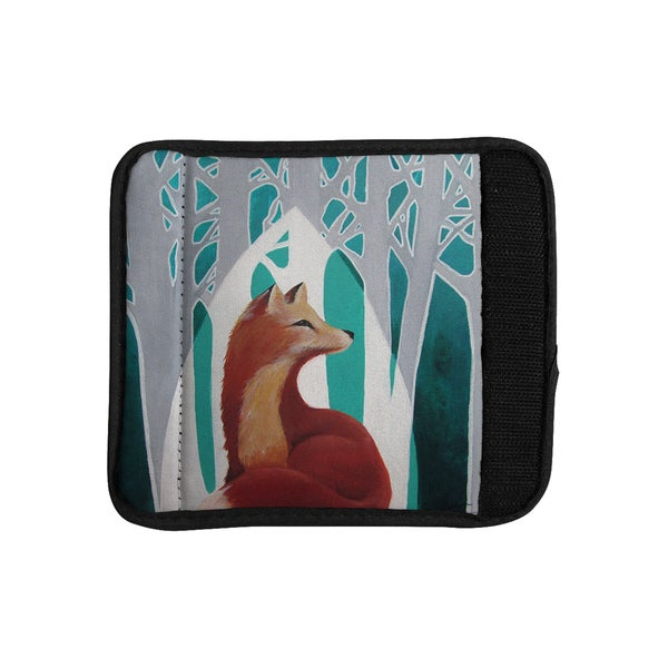 KESS InHouse Lydia Martin 'Fox Forest' Luggage Handle Wrap