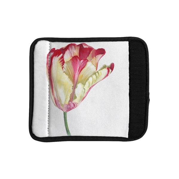 KESS InHouse Lydia Martin 'Red Tip Tulip' Luggage Handle Wrap