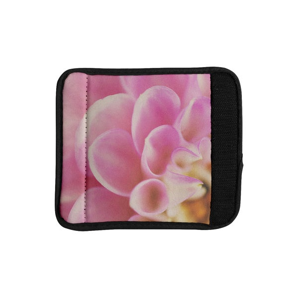 KESS InHouse Laura Evans 'Up Close & Personal' Pink Floral Luggage Handle Wrap