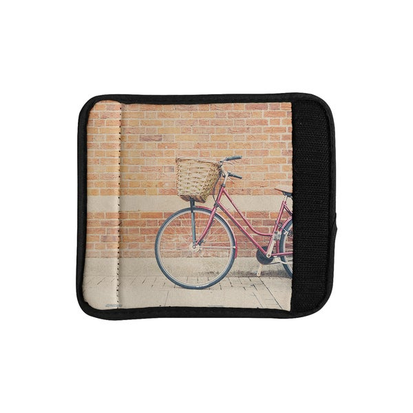 KESS InHouse Laura Evans 'A Red Bicycle' Orange Brown Luggage Handle Wrap