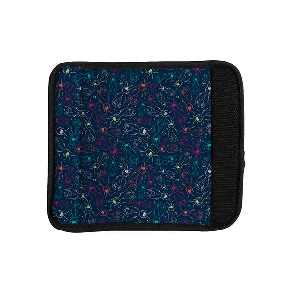 KESS InHouse Laura Escalante 'Fireflies Midnight Garden' Dark Blue Luggage Handle Wrap
