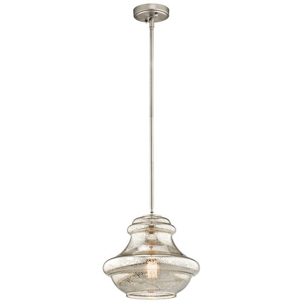 Kichler Lighting Everly Collection 1-light Brushed Nickel Pendant