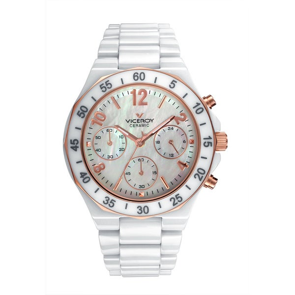 Viceroy Womens 47600-95 White Ceramic Watch 19390125