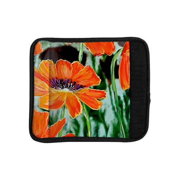 KESS InHouse Christen Treat 'Through the Looking Glass' Orange Green Luggage Handle Wrap