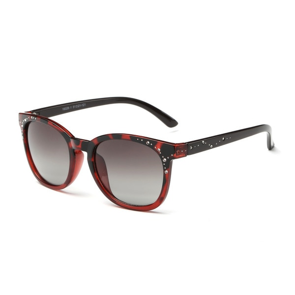 Wayfarer Red Acetate Oval Full-frame Sunglasses