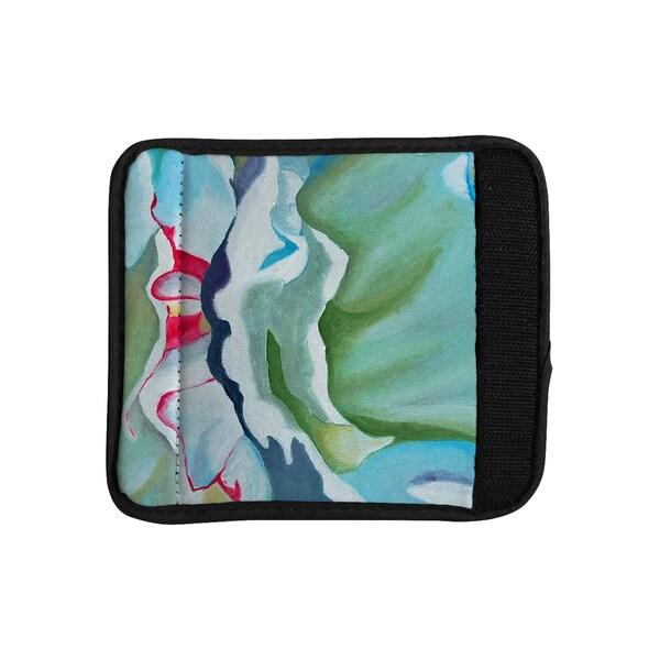 KESS InHouse Cathy Rodgers 'Peony Shadows' Green Flower Luggage Handle Wrap