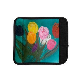 KESS InHouse Christen Treat 'Tulips' Rainbow Flower Luggage Handle Wrap