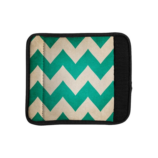 KESS InHouse Catherine McDonald '2013' Teal Chevron Luggage Handle Wrap