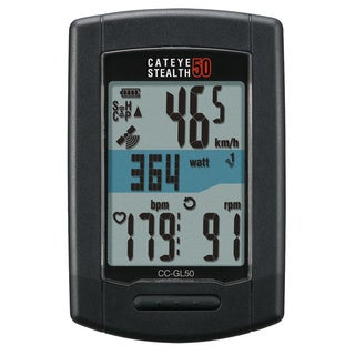 Cateye Stealth Black Plastic 50 GPS Cyclometer