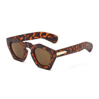 Tortoise Pentagon Sunglasses with Tawny Lens