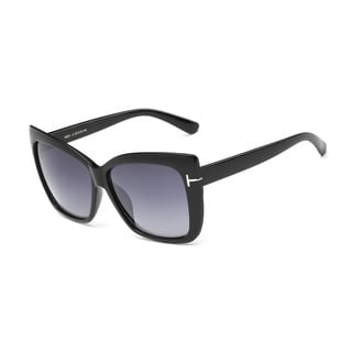 Ray-Ban Shiny Black Large Square Sunglasses With Dark Grey 52-millimeter Lens