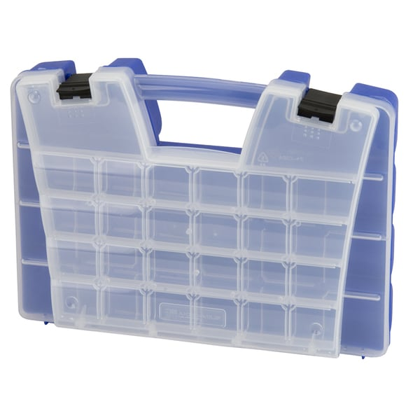 Akro-Mils Blue Plastic 46-compartment Portable Organizer