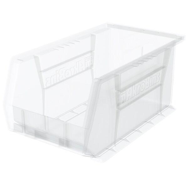 Akro-Mils AkroBin Clear Plastic 14 3/4 x 8 1/4 x 7-inch Organizer (Pack of 12) 19390589