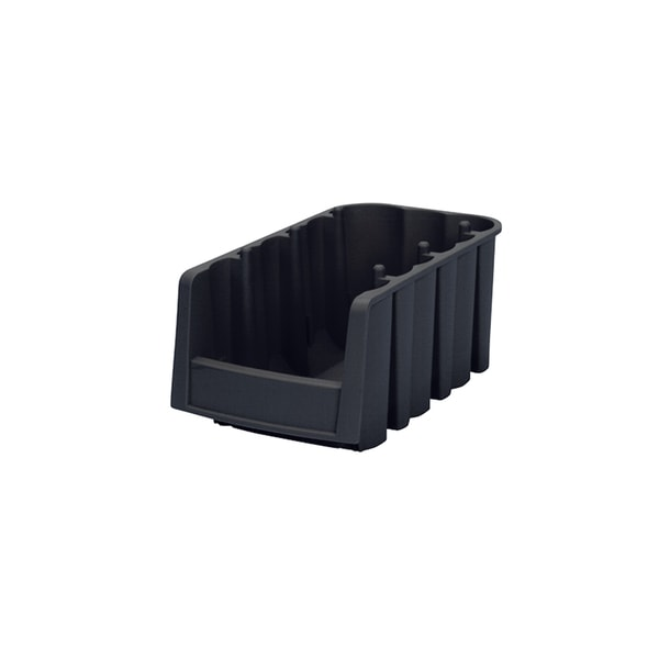 Akro-Mils Black Plastic Economy Shelf Bin (Pack of 10)
