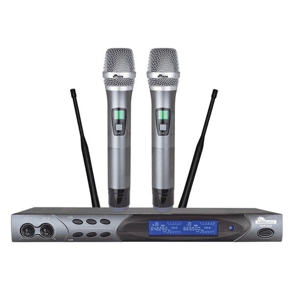 IDOLpro UHF-618 Advanced Technology Automatic Mute and Shutdown Dual Wireless Microphone
