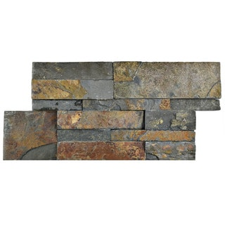 SomerTile 7x13.5-inch Piedra Rusty Slate Natural Stone Wall Tile (Pallet of 48)