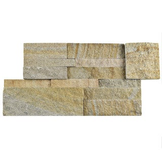 SomerTile 7x13.5-inch Piedra Sandstone Natural Stone Wall Tile (Pallet of 48)