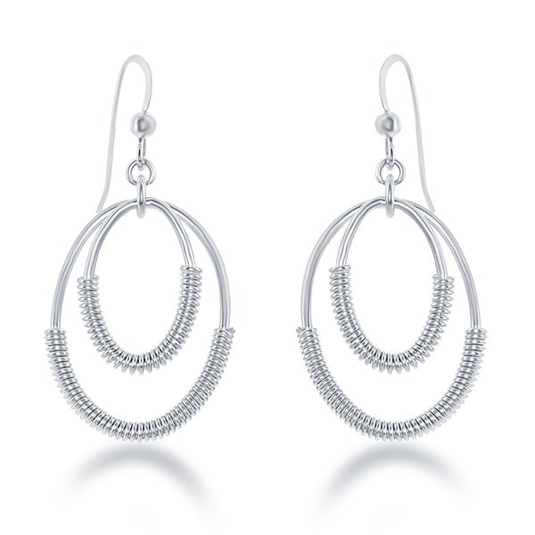 La Preciosa Sterling-silver Coil Wire Earrings