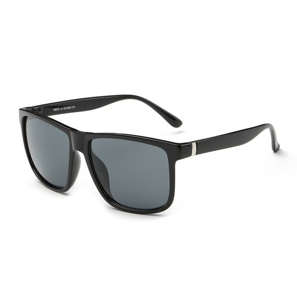 Icon Black Acetate Rectangular Full-frame Sunglasses