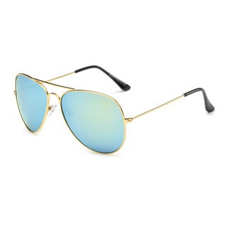 Goldtone Metal Aviator Sunglasses with Tinted Lenses