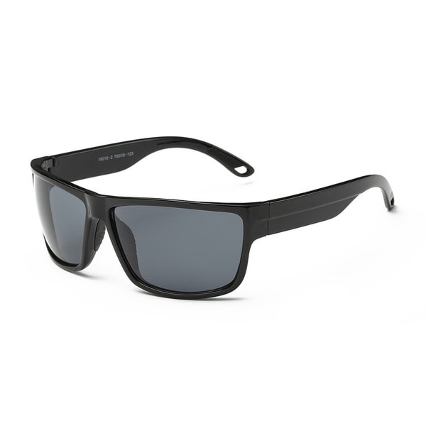 Briliant Black Frame with Dark Grey Lens Square Sunglasses