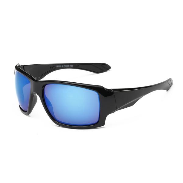 Icon Black Acetate Rectangular Full Frame Sunglasses