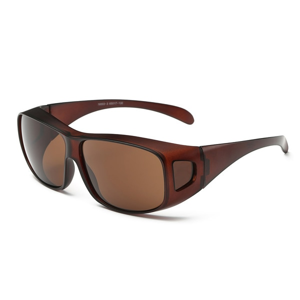 Chestnut Frame with Tawny Lenses Sport Sunglasses