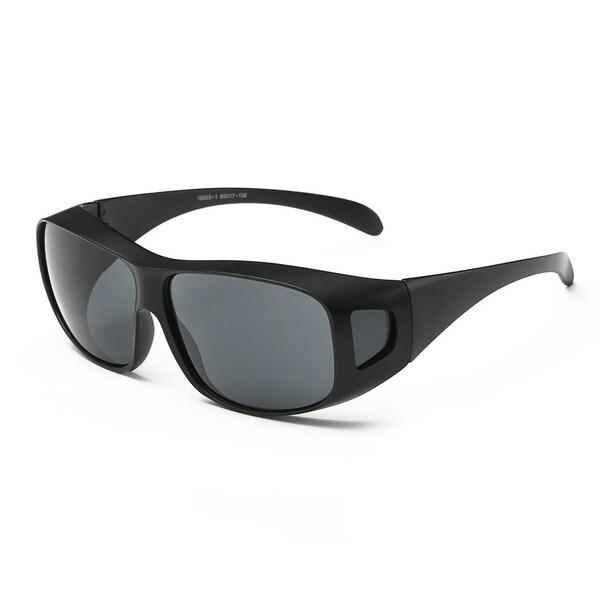 Matte Black Frame With Dark Grey Lens Sport Sunglasses