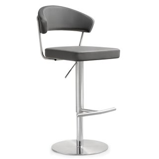 Cosmo Grey Stainless Steel/Polypropylene Barstool