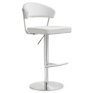TOV Cosmo White Stainless Steel Barstool