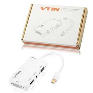 Thunderbolt 4-in-1 Square Shape Mini DisplayPort to VGA/HDMI/DVI Audio Cable Adapter for MacBook Pro