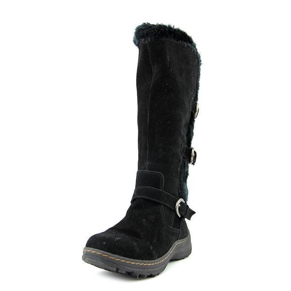 Baretraps Women's Ayden Black Suede Mid-calf Boots