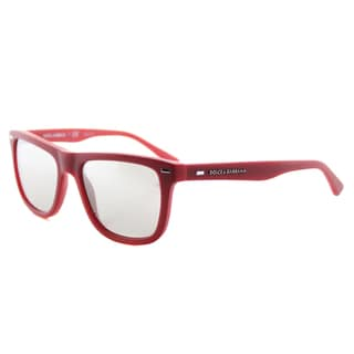 Dolce and Gabbana DG 4238 29096G Kids' Red Plastic Silver Mirror Lens Square Sunglasses