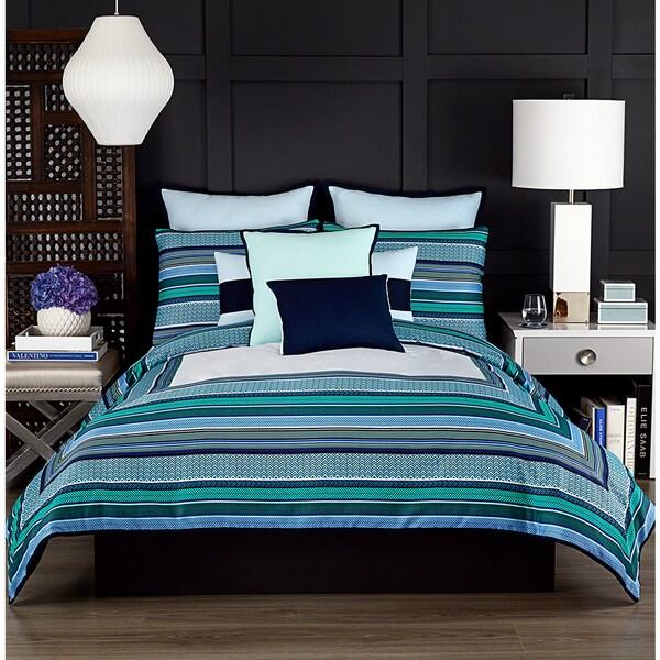 Vince Camuto Goa Blue Striped Comforter Set