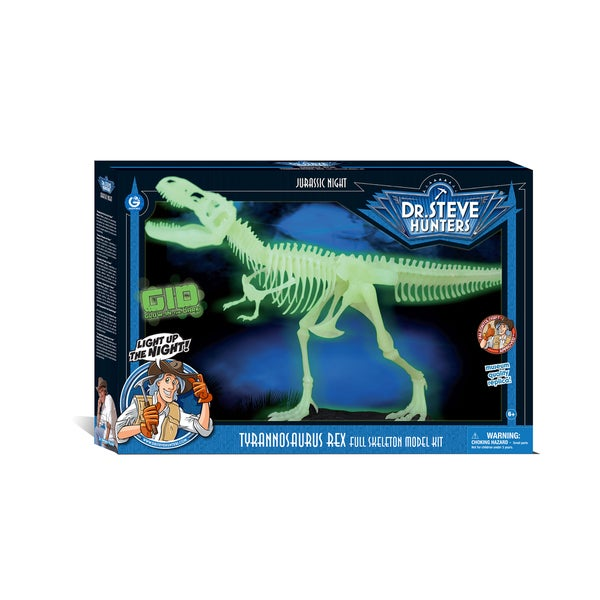 Geoworld Dr. Steve Hunter's Jurassic Night Glow-in-the-dark T. Rex Skeleton