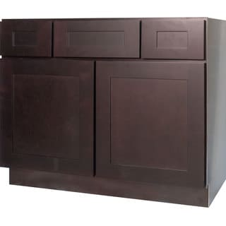 Everyday Cabinets Dark Espresso Shaker 42-inch Bathroom Vanity Cabinet