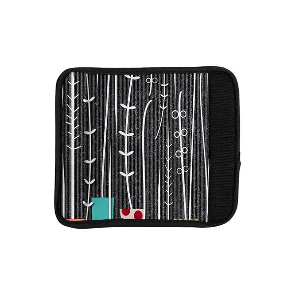KESS InHouse Danny Ivan 'Wild Plants' Black White Luggage Handle Wrap