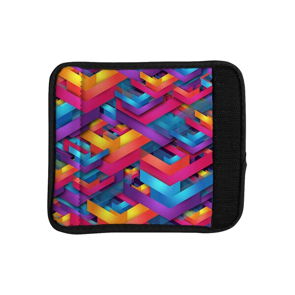 KESS InHouse Danny Ivan 'Own Luck' Pink Purple Luggage Handle Wrap