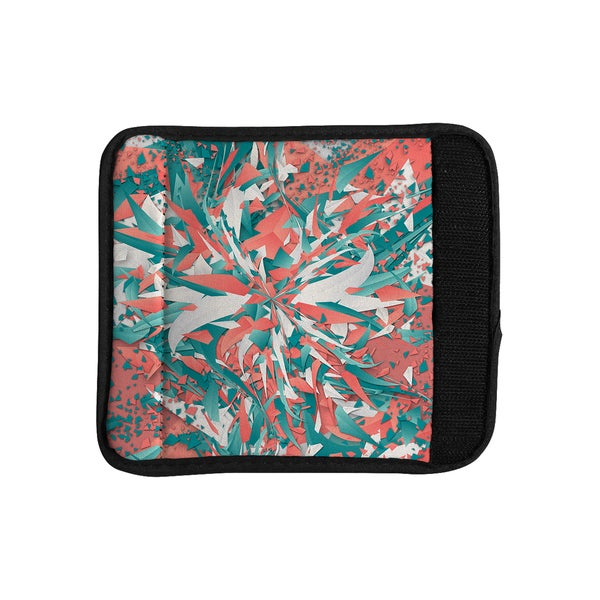 KESS InHouse Danny Ivan 'Like Explosion' Pink Teal Luggage Handle Wrap