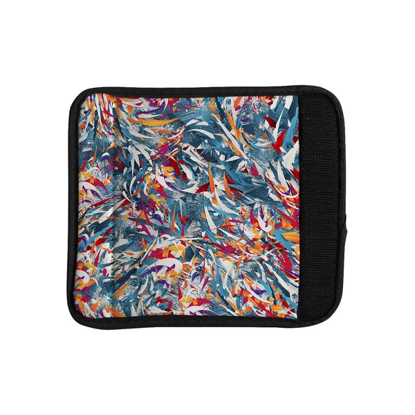 KESS InHouse Danny Ivan 'Excited Colours' Blue Abstract Luggage Handle Wrap
