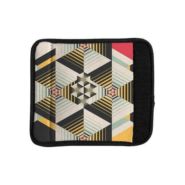 KESS InHouse Danny Ivan 'La Plus' Black Yellow Luggage Handle Wrap