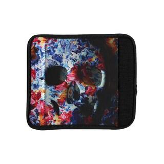 KESS InHouse Danny Ivan 'Skull Light' Blue Pink Luggage Handle Wrap