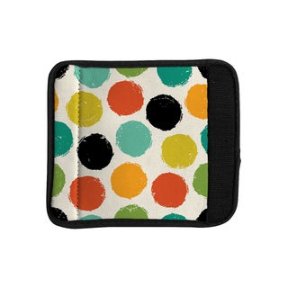 KESS InHouse Daisy Beatrice 'Retro Dots' Circles Luggage Handle Wrap
