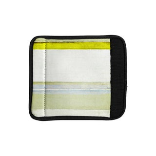 KESS InHouse CarolLynn Tice 'Built to Last' Yellow White Luggage Handle Wrap