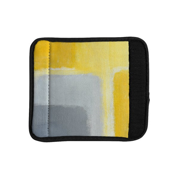KESS InHouse CarolLynn Tice 'Inspired' Grey Yellow Luggage Handle Wrap